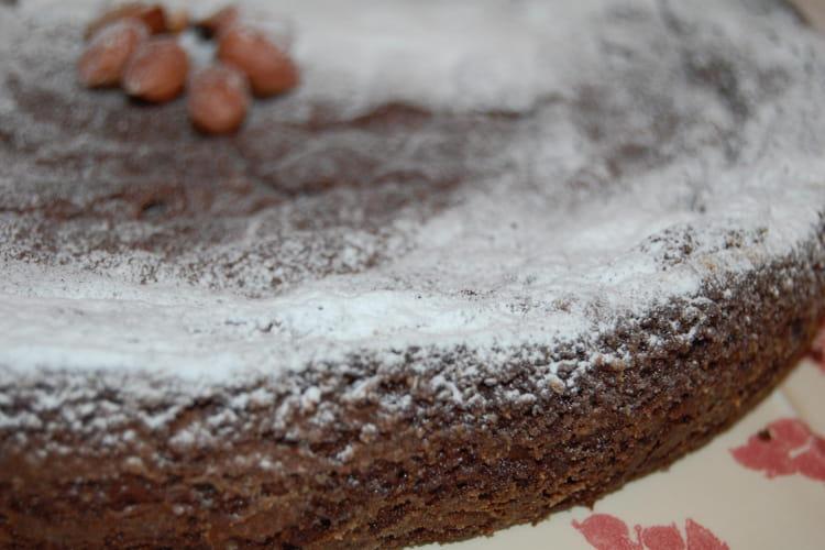 Moelleux au chocolat noir et pralinoise