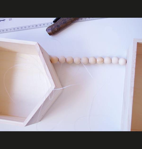 Etape 3: première rangée de perles