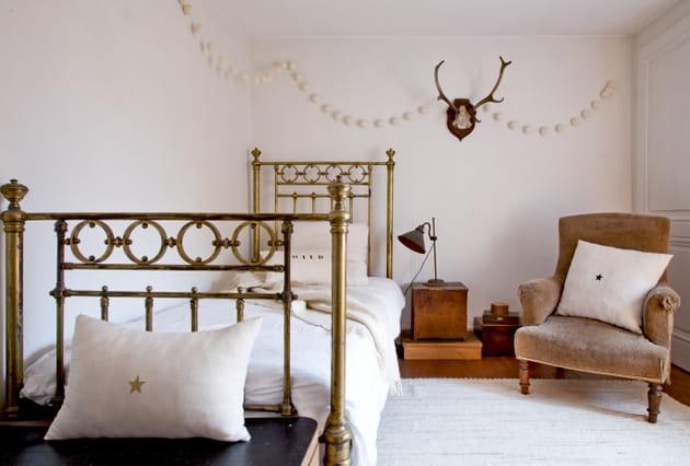 Une chambre vintage cosy à souhait