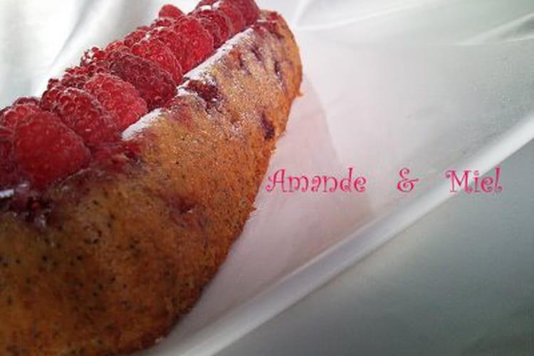 Cake framboise-citron au pavot