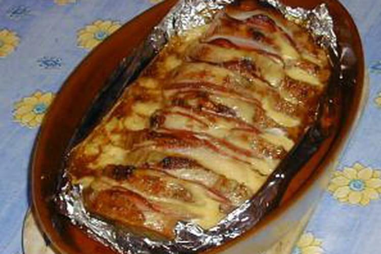 Rôti de porc au bacon