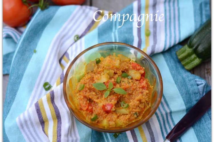 Quinoa aux légumes du soleil façon risotto