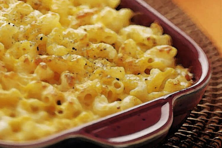 Gratin de macaroni aux champignons de Paris