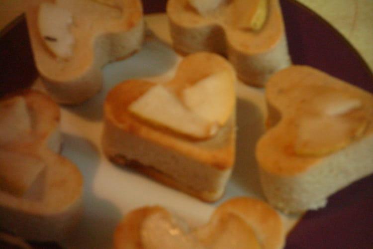 Flans à la mousse de poires