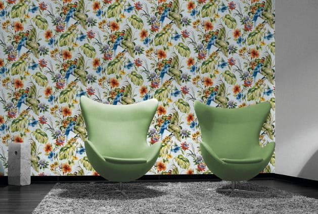 Papier peint Perroquet Homemaison.com