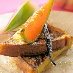 pain perdu et melon philibon rôti