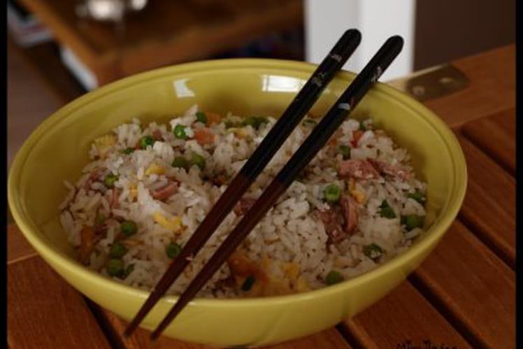 Riz cantonais à la saucisse chinoise