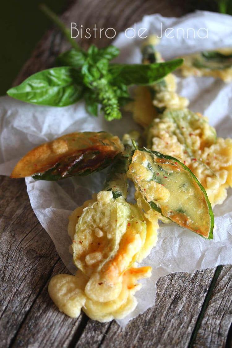 recette de tempura de fleurs de courgettes et feuilles de. Black Bedroom Furniture Sets. Home Design Ideas