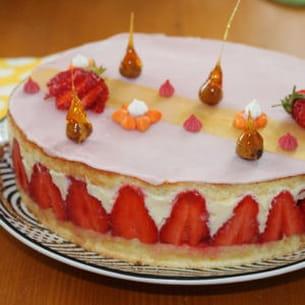 fraisier, crème express