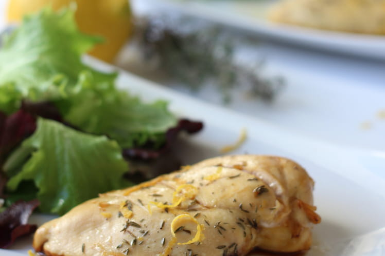 Escalope de poulet Citron et Thym