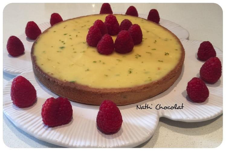 Tarte au citron vert et chocolat blanc