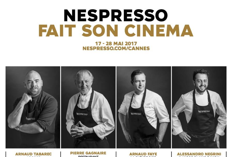 Festival de Cannes:  les chefs à l'action avec Nespresso