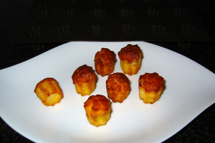 Mini cannelés au jambon fromage