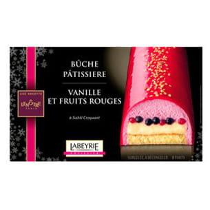 bûche pâtissière vanille et fruits rouges de lenôtre pour labeyrie