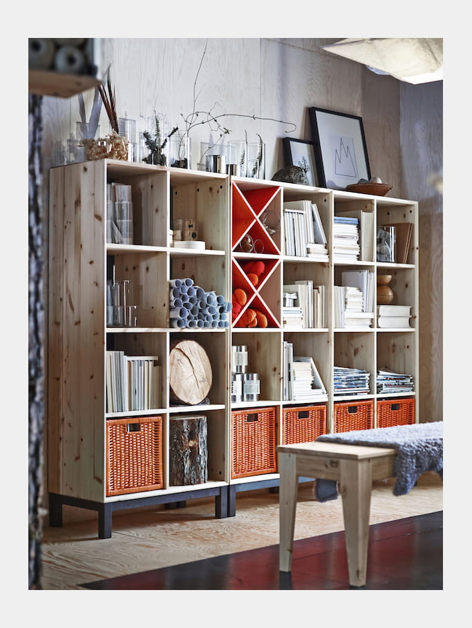 biblioth que modulable d 39 ikea ikea retourne aux sources avec des meubles personnaliser. Black Bedroom Furniture Sets. Home Design Ideas