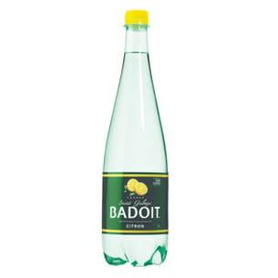 eau pétillante aromatisée au citron de badoit