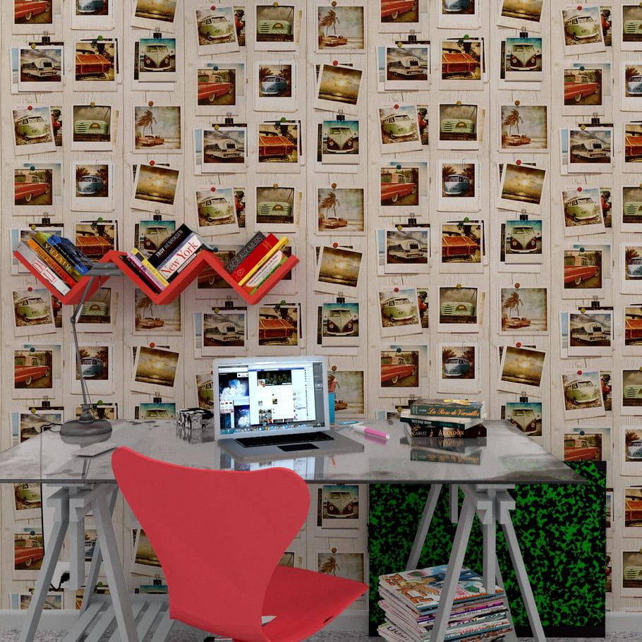papier peint impression photos summer pola chez 4 murs papier peint pour ado collez la. Black Bedroom Furniture Sets. Home Design Ideas