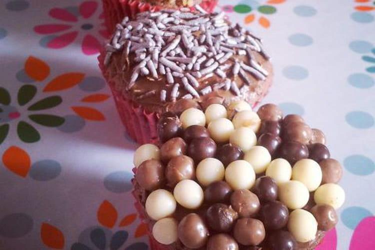 Mini cupcakes chocolat-noisettes