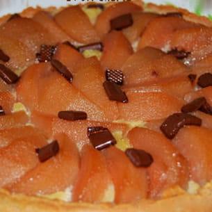 tarte aux poires et sa crème amandine