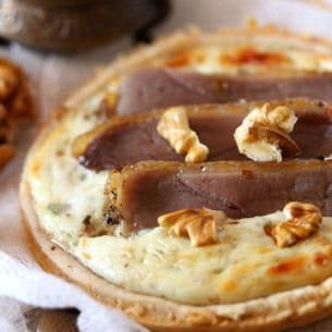 tartelette au roquefort et noix