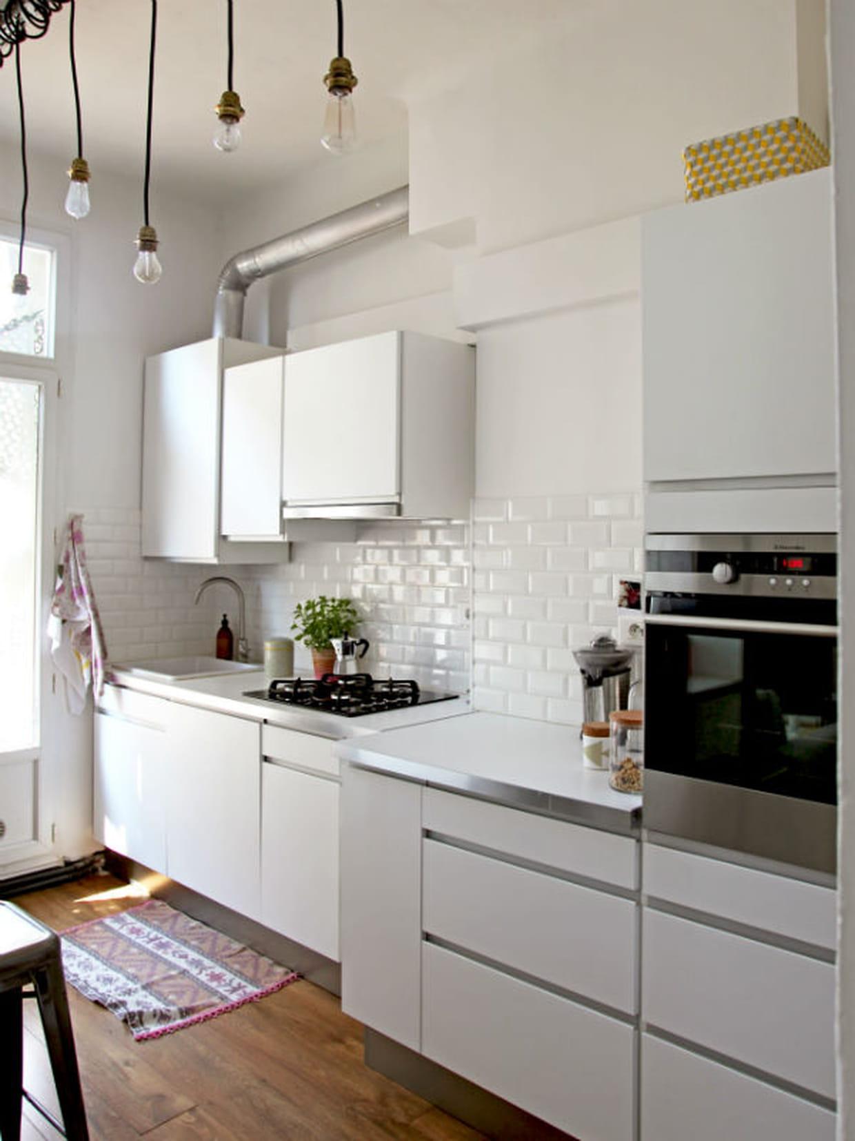 Des meubles classiques pour une cuisine originale - Ilot central cuisine leroy merlin ...