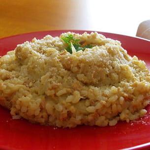 risotto au thon sauce crème au parmesan