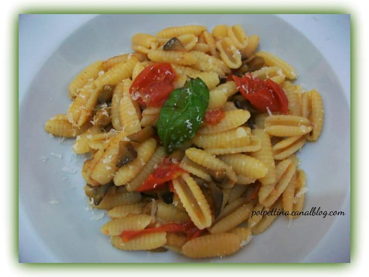 Recette de gnocchetti sardi aubergines et tomates cerises - Cuisiner sans graisse ...