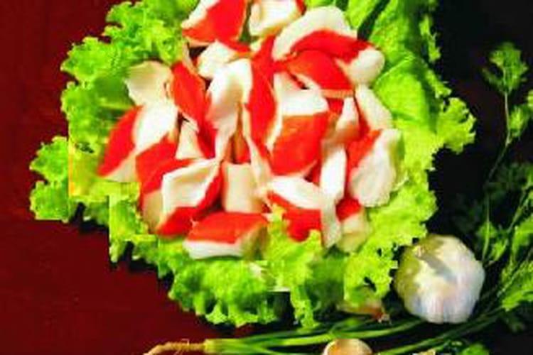 Sushis de surimi, pomme verte et saumon fumé