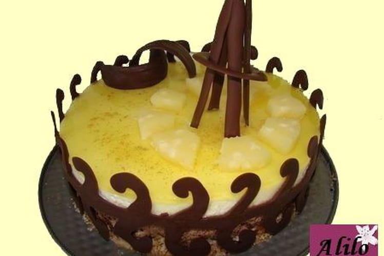 Duo de mousses ananas-chocolat