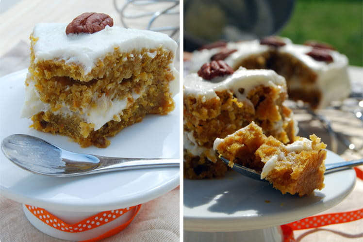 Gâteau à la carotte et aux noix de pécan