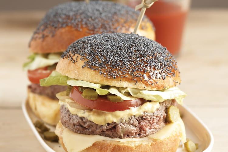 Hamburgers au pavot bleu, petits pains briochés sans sucre
