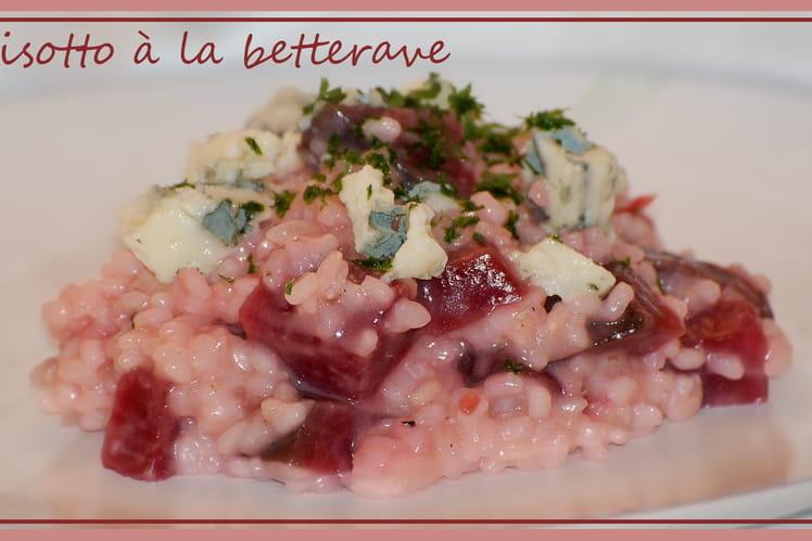 Risotto à la betterave