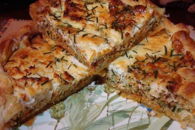 Recette de quiche au boursin courgettes et carottes la recette facile - Courgette boursin cuisine ...