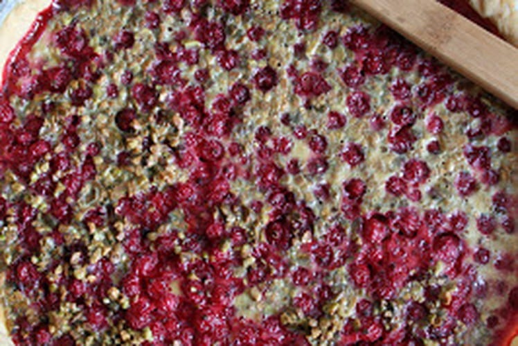 Tarte groseilles et pistaches