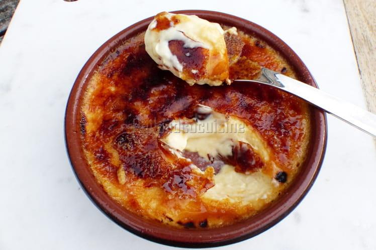 Crème brûlée bien caramélisée
