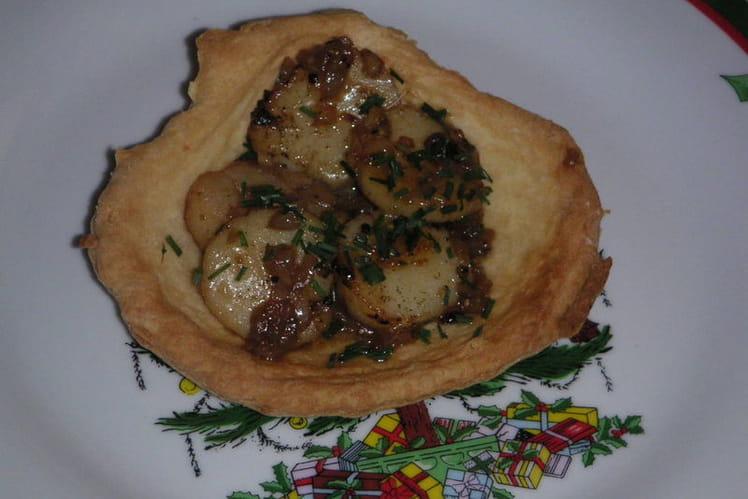 Coquilles Saint-Jacques en coque de pâte