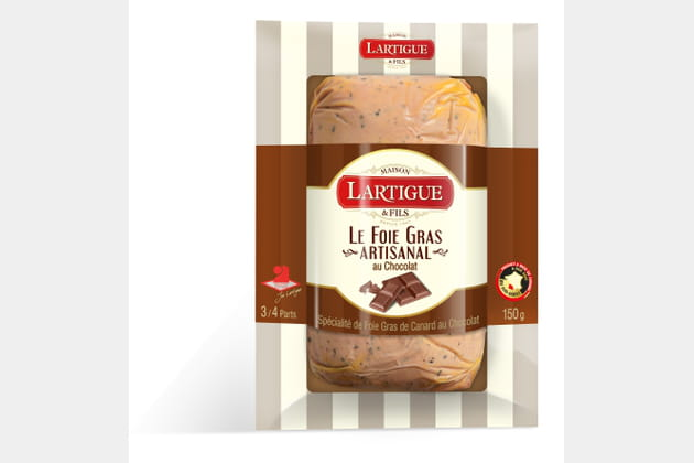 Foie gras artisanal au chocolat de Lartigue et Fils