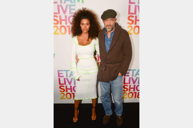 Vincent Cassel et Tina Kunakey au défilé Etam