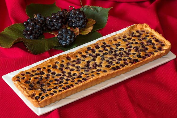 Tarte amandine aux raisins du Beaujolais