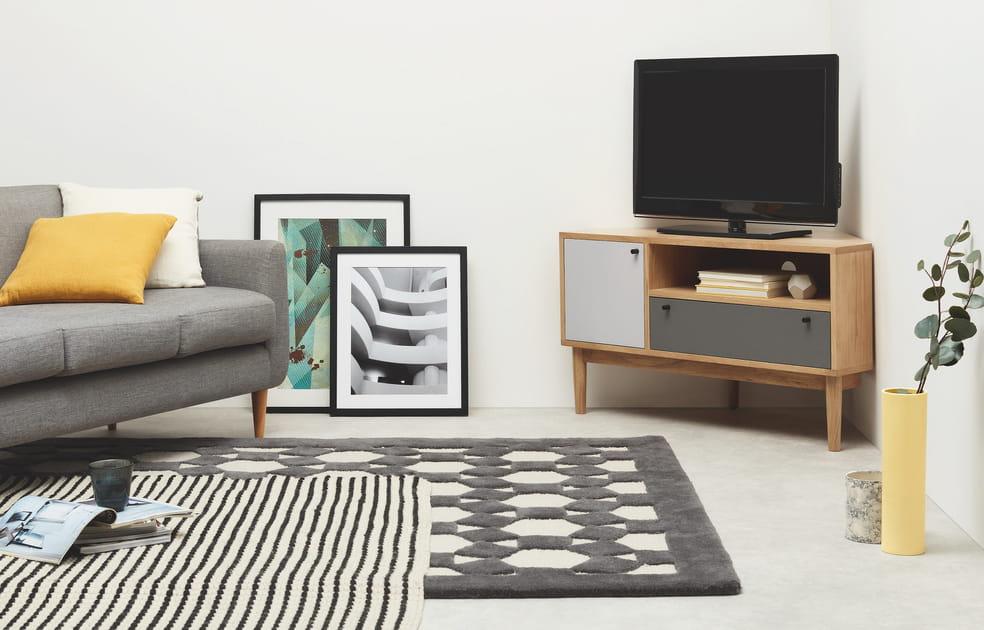 Un meuble TV d'angle