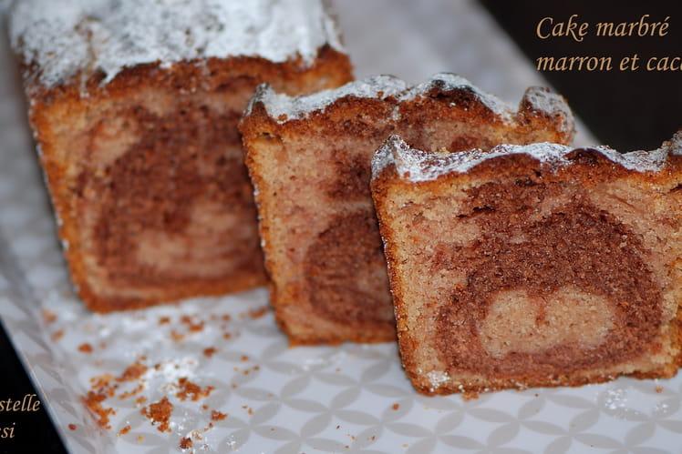 Cake marbré marron et cacao
