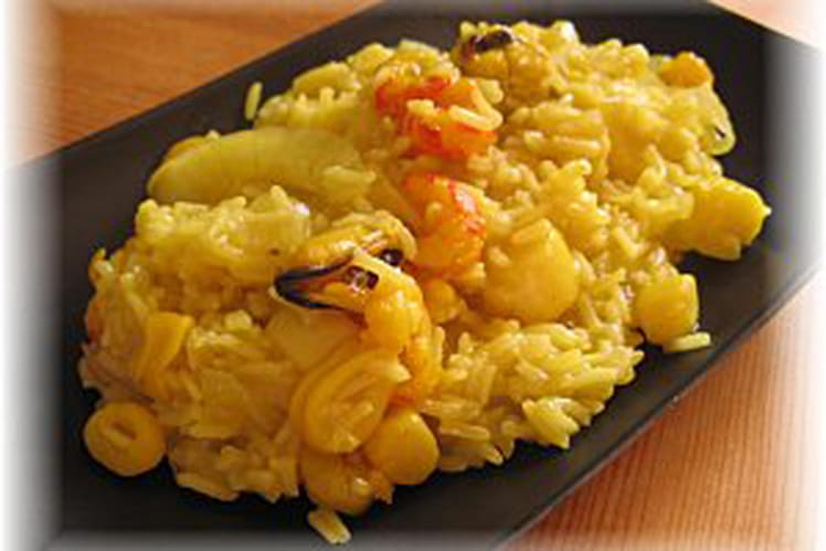Biriyani aux fruits de mer