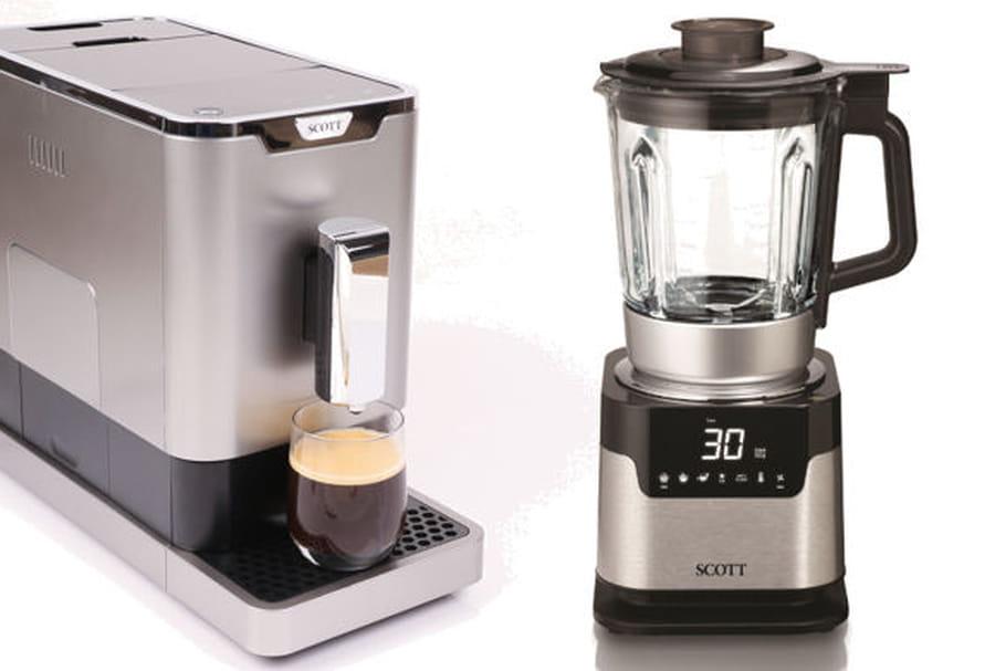 Concours : en avril, gagnez un lot de blender chauffant et une machine à café broyeur à grains de SCOTT