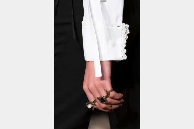 Les bagues gothiques du défilé Valentino