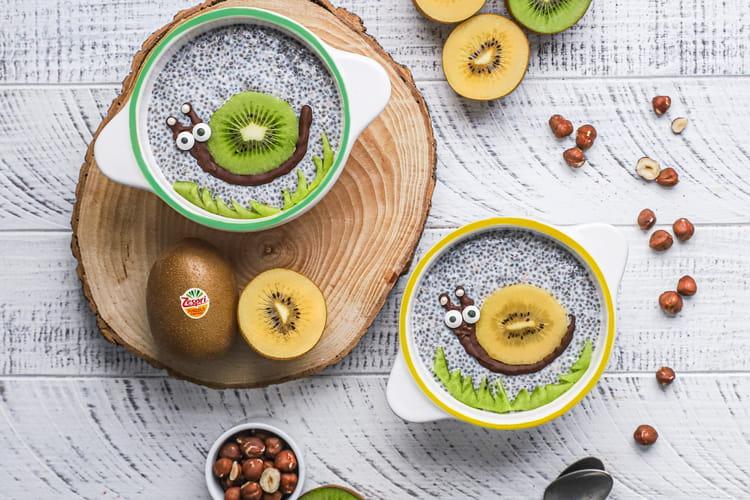 Pudding chia, kiwi et coco