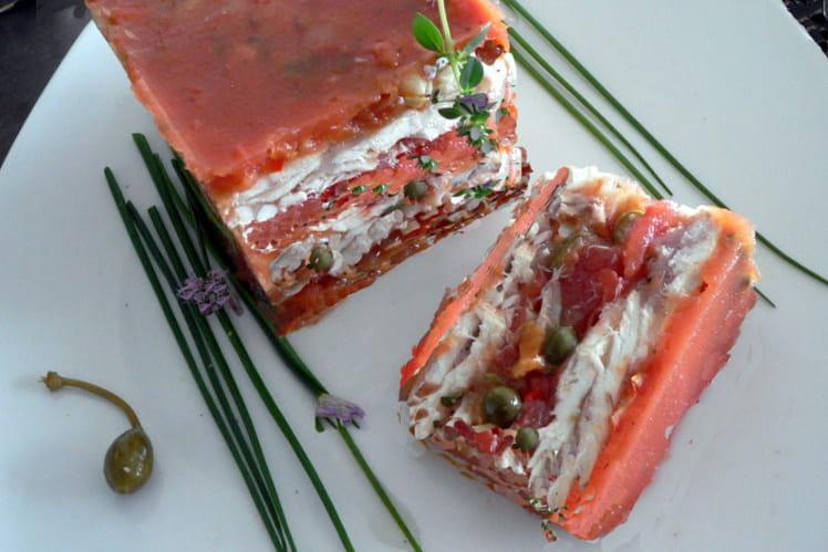 Terrine de raie aux tomates et aux câpres