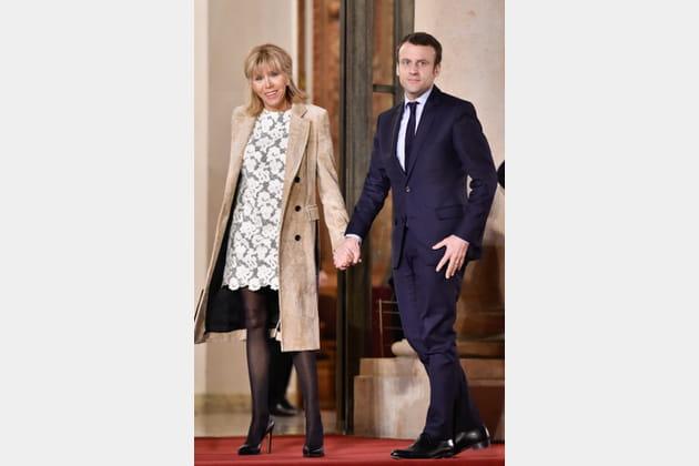 Brigitte Macron le 11mars 2017