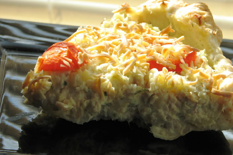 Tarte à la mousse de poisson et pommes de terre