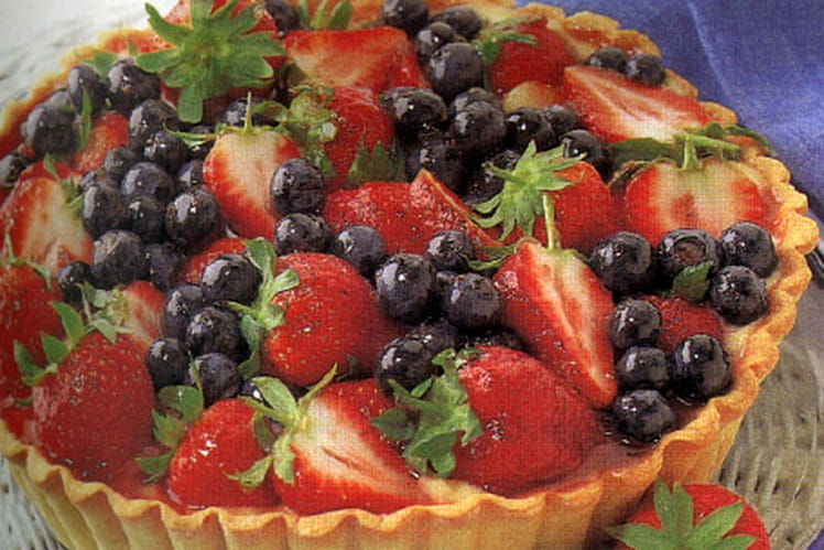 Tarte aux baies de saison (fruits rouges)