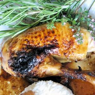 poulet au vinaigre balsamique, épices et miel